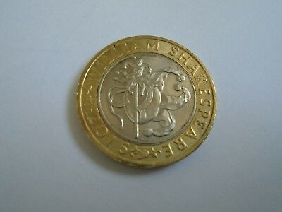 2016 £2 Coin - William Shakespeare Coin - Comedies Jester