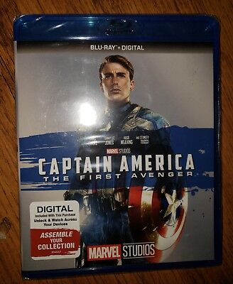 Marvel Blu Ray Captain America  First Avenger with trading cards