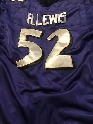 RAY LEWIS BALTIMORE Ravens  52 NFL Youth Sz L STITCHED SEWN Black ... 24043d89a
