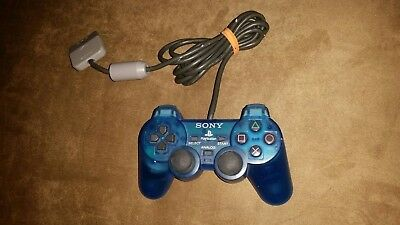Playstation 2 PS2 Official OEM Sony Dualshock 2 Controller BLUE Gamepad Game Pad