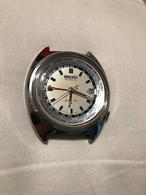 ++ SEIKO WORLD TIMER RARE 6117/6400 STUNNING 1970s - JUST BEEN SERVICED ++