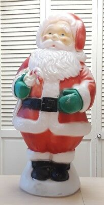 Christmas Santa Claus W/ Candy Cane Blow Mold-VTG-30' Ht. No Cord