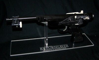 Acrylic display stand for Star Wars DL-17 Skiff Guard blaster prop