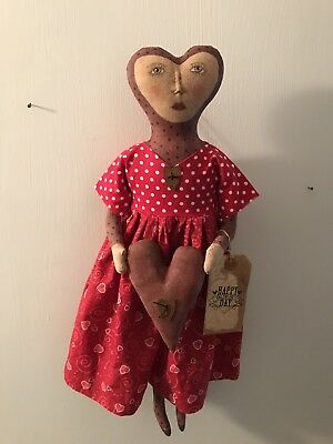 Primitive Valentines Doll