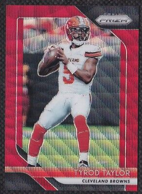 Tyrod Taylor 2018 Panini Prizm Red Wave Parallel #153 Cleveland Browns Card /149