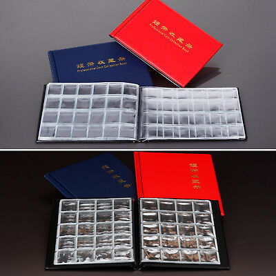 Coin Storage Book Holder Collection Money Penny Album Collecting Pockets Folder