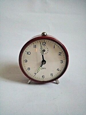Vintage Old Lovely FRENCH JAPY Alarm Clock Mechanical Working Home Decor