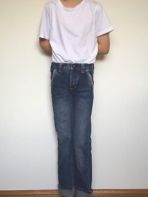 Esprit Boys Sz 7 Denim Jeans Blue with Sewn Cuff Very Cool!