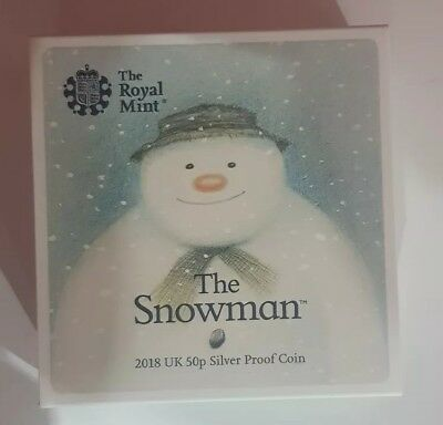 THE SNOWMAN 2018 UK 50p SILVER PROOF COIN