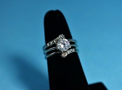 Solitaire Ring with Jacket Set by AVON - Size 6 - NEW in Box - 3 Pieces