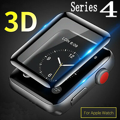 For Apple Watch Series 4 44MM Tempered Glass Screen Protector Film Clear Cover