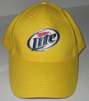 Miller Lite Beer Yellow Baseball Cap Trucker Hat One Size Adjustable NICE  Promo e96f52aade79