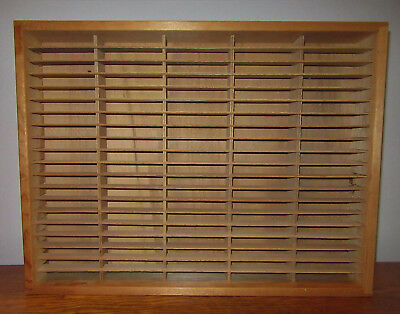 Napa Valley Box Company 100 Slot Cassette Tape Wooden Wall Rack Holder Wood