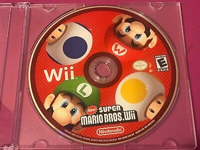 New Super Mario Bros Wii Game (Nintendo Wii, 2009) Disc Only