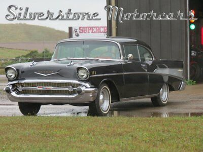 1957 Chevrolet Bel Air/150/210  1957 Chevy BelAir Black Restored Great Condition AC PS PB Great Driver