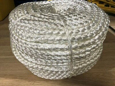 ANCHOR ROPE 12mm x 100m WHITE NYLON 8 STRAND FOR WINCHES 2.9 t B/F AUST STDS