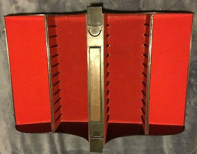 RARE Deluxe Wood Grain Track Storage Display Carrying Box Case Holds 24 Tapes