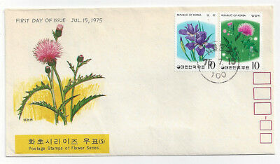 1975 Cacheted  Korea Korean First Day Cover FDC Scott Stamp 948 & 949