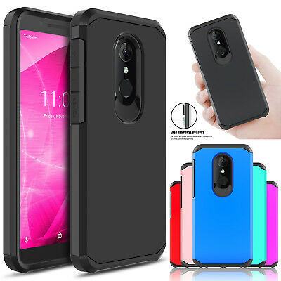 For T-Mobile Revvl 2 / Alcatel 3 / 5052W Shockproof Slim Armor Case Rugged Cover