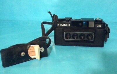 Nimslo 3D 35mm Film Camera, 30mm Quadra Lens, Vintage.