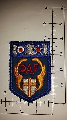 Wwii Usaaf Desert Airforce  Patch On Wool