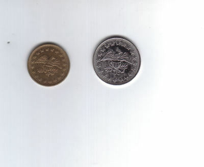 Coin Set of 2 Eagle Coin MeterTokens