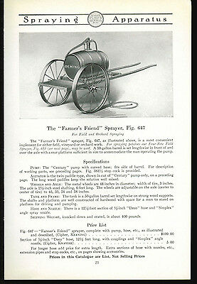 1918 Deming Pumps Catalog Page Ad Farmers Friend Sprayer Salem Ohio