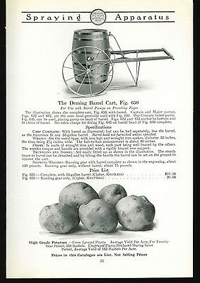 1918 Deming Sprayers Catalog Page Ad Barrel Cart  For Pumps Salem Ohio