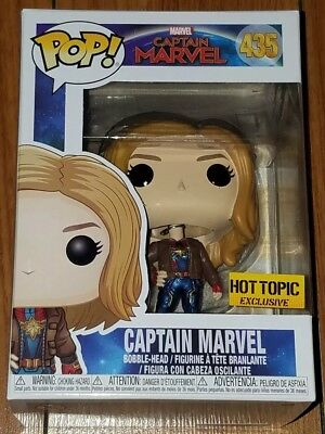 Funko Pop Marvel #435 Captain Marvel Hot Topic Exclusive In Hand