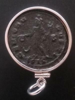 Licinius Large AE1 Authentic Ancient Roman Coin Sterling Silver Pendant Necklace