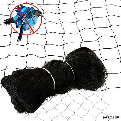 "50'X50' Anti Bird Netting Garden Poultry Aviary Game Pen Plant Protective 2""Mesh"