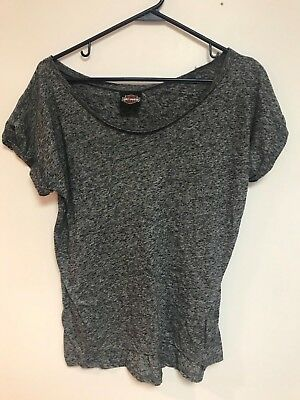 HARLEY-DAVIDSON Womens Size Medium Gray Shirt