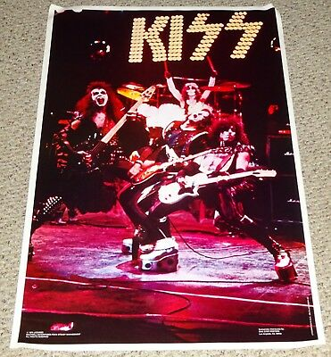 KISS Band Alive Stage Shot Poster 1975 Boutwell Aucoin Gene Simmons Ace Frehley