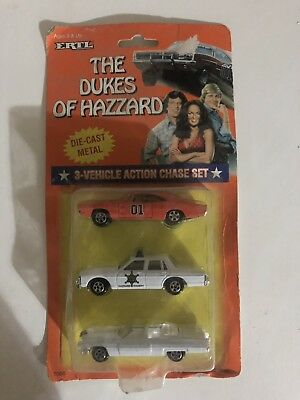 The Dukes Of Hazzard 3 Piece Car Chase Set Collectable
