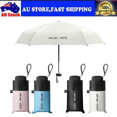 Mini Pocket 5 Folding Sun Umbrella Sunscreen Anti UV Umbrella Rain Umbrellas AU