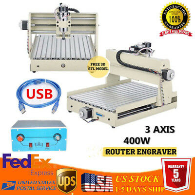 USB 3 AXIS 400W CNC3040T Router Engraver Wood Carving Engraving Milling Machine