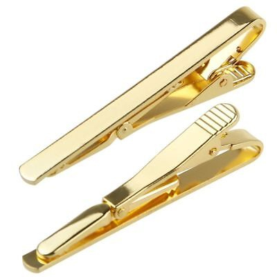 Gold/Silver/Black Metal Tie Clip Holder Clasp 5.4cmx0.5cm Mens Bar Pin Plain New