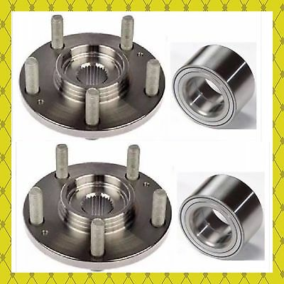 Front Wheel Hub & Bearing For 2012-2018 Ford Focus C-Max 2013-2018 Pair
