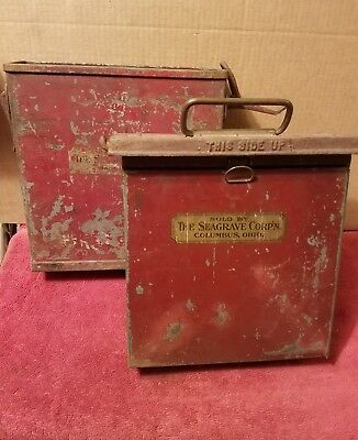 Vintage Seagrave Fire Truck Running Board Mounted First Aid Box Original