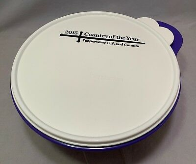 """New Tupperware Thatsa Bowl 2015 """"Country Of The Year"""" 12 Cups (2.75 L) In Purple"""