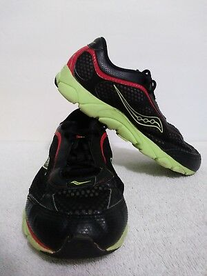 f97d459d5cd6d SIZE 3.5M SAUCONY Virrata Boys Athletic Running Shoes Black/Red/Yellow