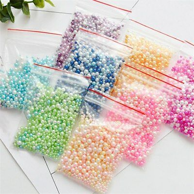 500Pcs/Bag Round Pearl Spacer Loose Beads No Hole DIY Jewelry Making Accessories