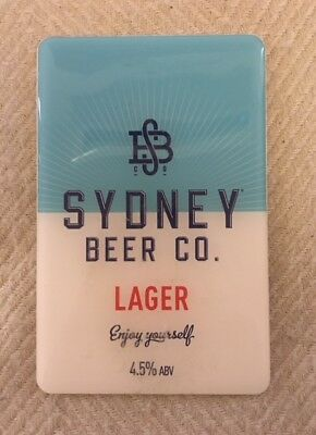 Sydney Beer Co Lager Acrylic Plaque Tap Beer Badges Top  FREE POSTAGE!