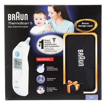Braun IRT6020 Thermoscan 5 Ear Thermometer With Bonus Storage Case RRP$ 145
