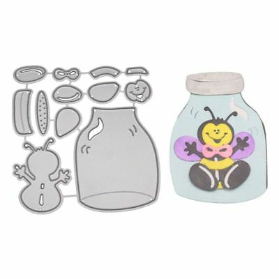 Bee Jar Metal Cutting Dies Stencil Scrapbooking Paper Card Embossing Craft DIY