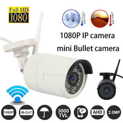 720/1080p HD Bullet IP Wireless Network WiFi Outdoor Indoor Home Security Camera