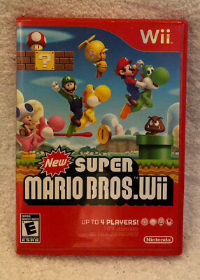 New Super Mario Bros. Wii (Nintendo Wii, 2009) Game Complete w/Disc Manual Case