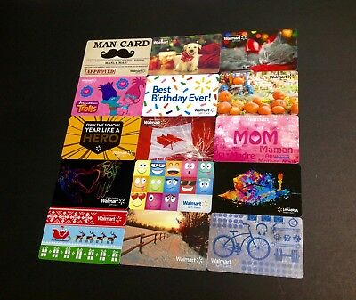 Usa & Canada Walmart Gift  Card  ---  Lot Of 15 Pcs. ----- New