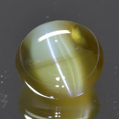 7.54 cts GRS CERTIFIED 100% Natural Greenish Yellow Color Chrysoberyl Cat's Eye