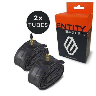 2x Entity Inner Tube 26x1.5-2.5 Presta Valve 48mm for 26 inch Mountain Bike MTB